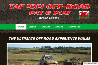 TAF 4x4 website